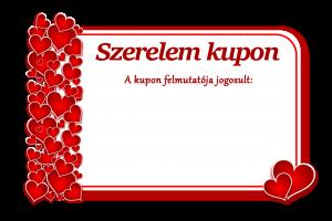 szerelem kupon