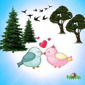 valentin napi állatos képek, madarak