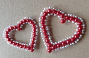 Valentin-napi gyöngy szív