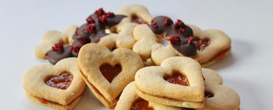 Valentin-napi linzer gluténmentesen