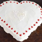 Valentin napi vörös bársony torta