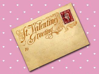 vintage valentin napi képeslap1