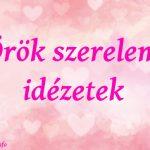 örök szerelem idézetek