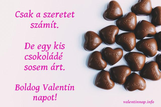 vicces valentin napi idézet, csoki
