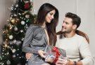 karácsonyi szerelmes pár