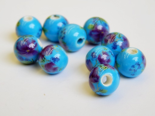 kék porcelán gyöngy