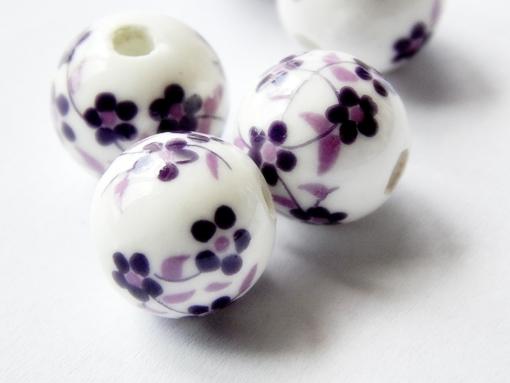 virágos porcelán gyöngy